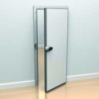 Porte pivotante aluminium-tôle laquée